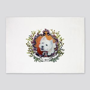 West Highland White Terrier Portrai 5'x7'Area Rug