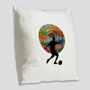 THE MOVES Burlap Throw Pillow