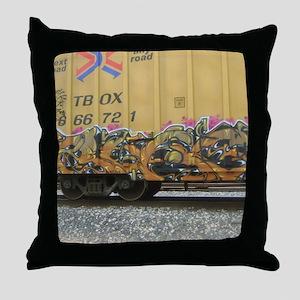 train art Throw Pillow