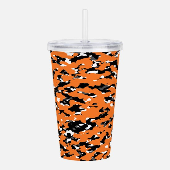 Camouflage: Orange I Acrylic Double-wall Tumbler