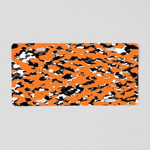 Camouflage: Orange I Aluminum License Plate