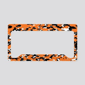 Camouflage: Orange I License Plate Holder