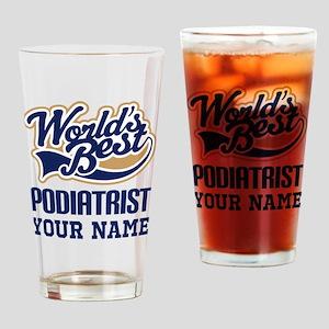 Podiatrist Personalized Gift Drinking Glass