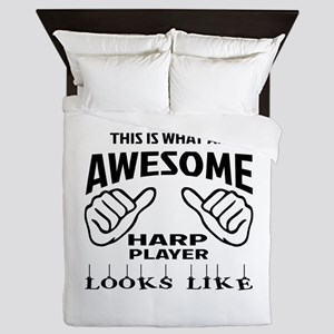 This is what an awesome Harp player lo Queen Duvet