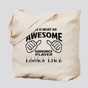 This is what an awesome harmonica player Tote Bag