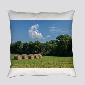 Hay Bales Everyday Pillow