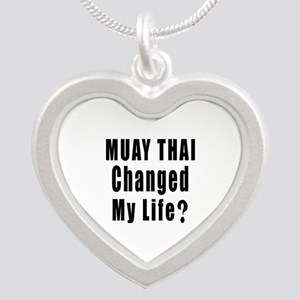 Muay Thai Changed My Life ? Silver Heart Necklace