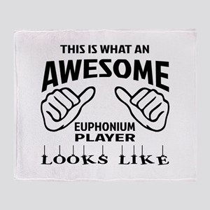 This is what an awesome Euphonium pl Throw Blanket