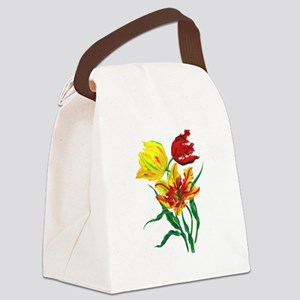 Three Tulips Canvas Lunch Bag
