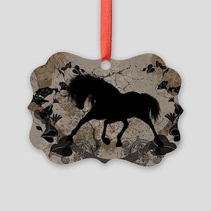 Black horse silhouette Ornament