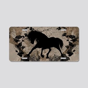 Black horse silhouette Aluminum License Plate