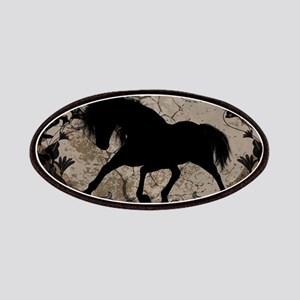 Black horse silhouette Patch