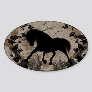 Black horse silhouette Sticker