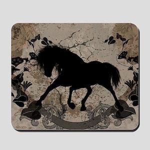Black horse silhouette Mousepad