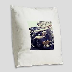 Hot rod Burlap Throw Pillow