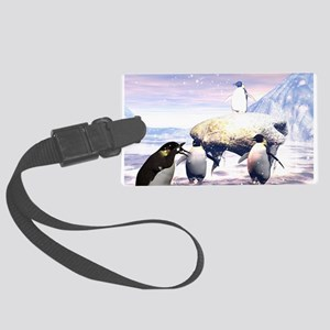 funny penguins Luggage Tag