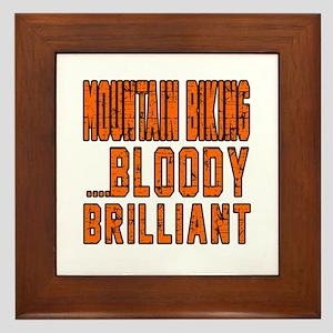 Mountain Biking Bloody Brilliant Desig Framed Tile