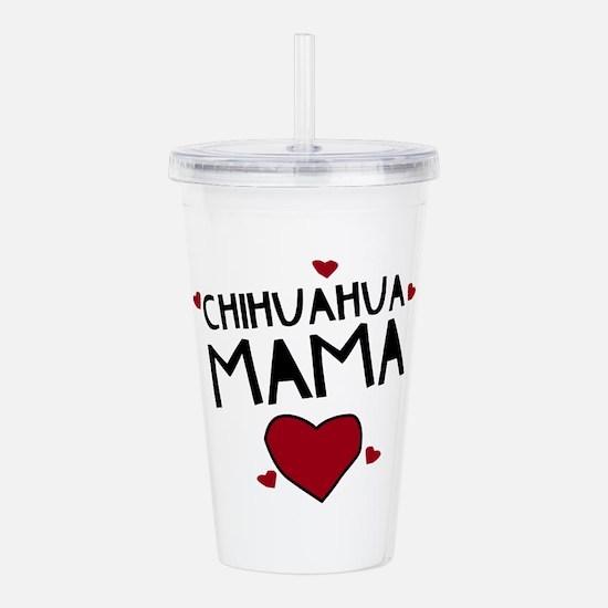 Chihuahua Mama Acrylic Double-wall Tumbler