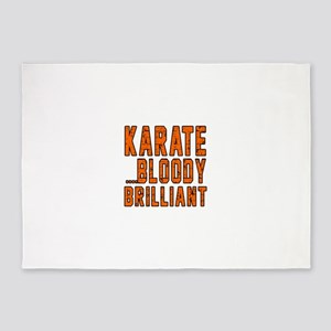 Karate Bloody Brilliant Designs 5'x7'Area Rug
