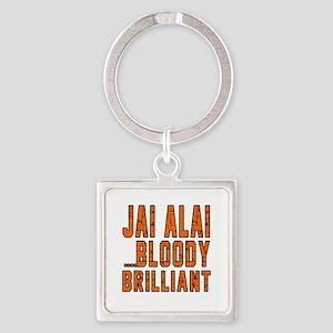 Jai Alai Bloody Brilliant Designs Square Keychain