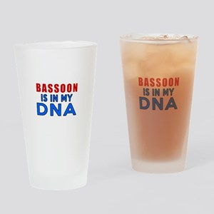 bassoon Is In My DNA Drinking Glass