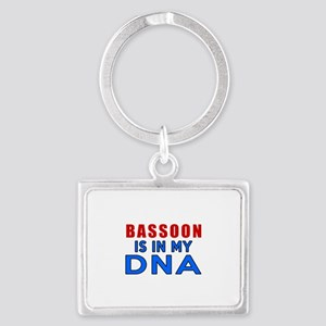 bassoon Is In My DNA Landscape Keychain