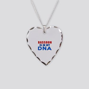 bassoon Is In My DNA Necklace Heart Charm