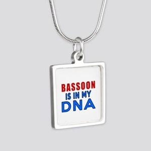 bassoon Is In My DNA Silver Square Necklace