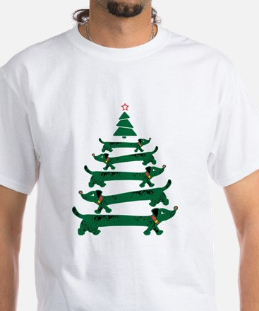 Dachshund Christmas Tree T-Shirt