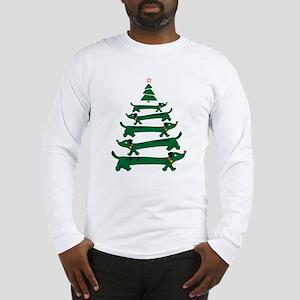 Dachshund Christmas Tree Long Sleeve T-Shirt