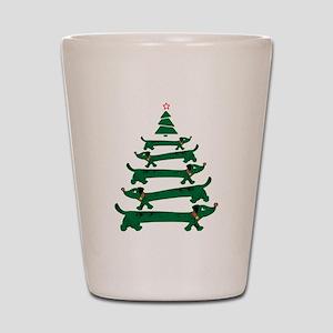 Dachshund Christmas Tree Shot Glass