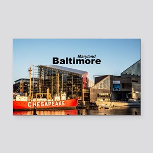 Baltimore Rectangle Car Magnet