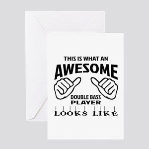 This is what an awesome Double Bass Greeting Card
