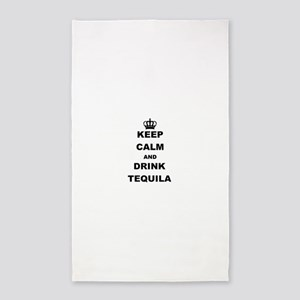 KEEP CALM AND DRINK TEQUILA Area Rug
