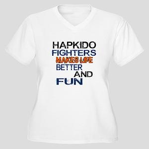 Hapkido Fighters Women's Plus Size V-Neck T-Shirt