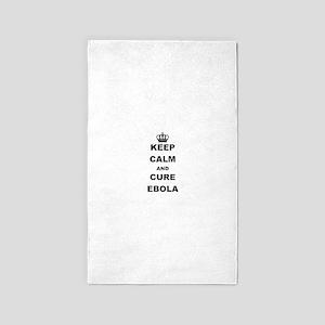 KEEP CALM AND CURE EBOLA Area Rug