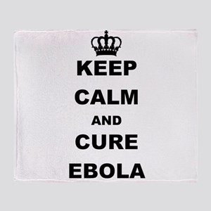 KEEP CALM AND CURE EBOLA Throw Blanket