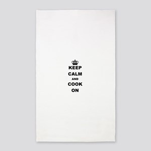 KEEP CALM AND COOK ON Area Rug