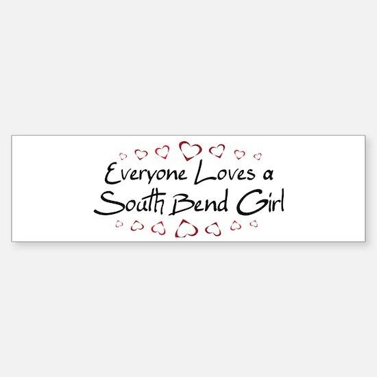 South Bend Girl Bumper Bumper Bumper Sticker