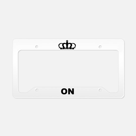 KEEP CALM AND BREAST FEED ON License Plate Holder