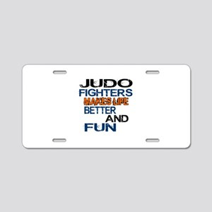 Judo Fighters Makes Life Be Aluminum License Plate