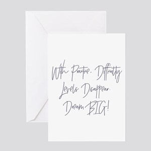 Disappearing Difficulties Greeting Cards