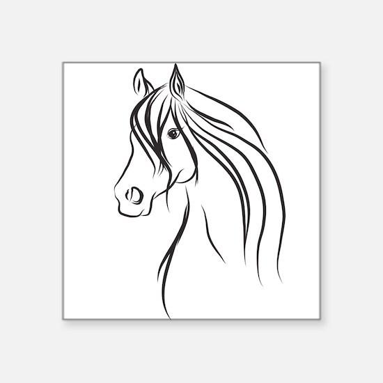 Illustration of a horse Sticker