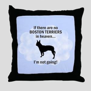 Boston Terriers In Heaven Throw Pillow