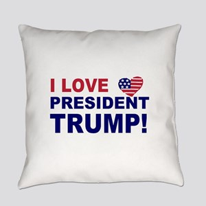 I Love President Trump Everyday Pillow
