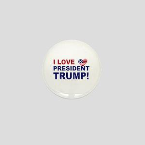 I Love President Trump Mini Button