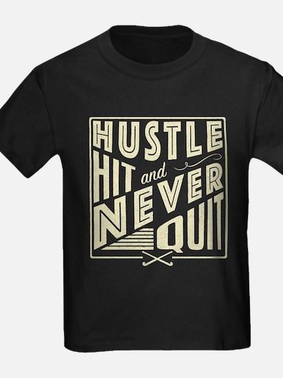 Field Hockey Hustle Hit & Never Quit T-Shirt