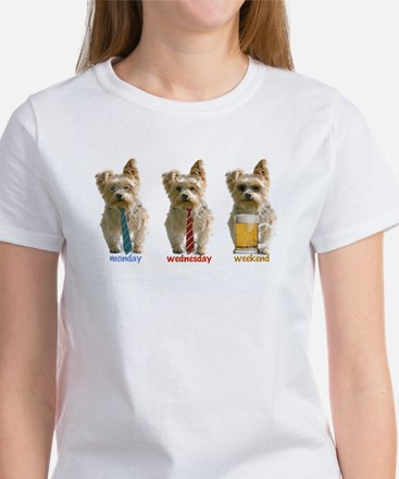 """3 day week"" yorkie Women's Cap Sleeve T-Shirt"