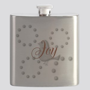 Cute Joy The World Christmas Bird Flask