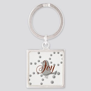 Cute Joy The World Christmas Bird Keychains